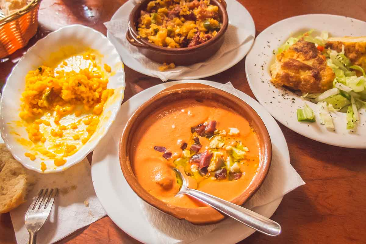 Platos típicos tapas Andalucía