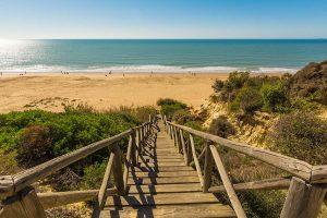 Playa de Mazagon en Huelva